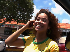 In this episode we meet the beautiful Mercedes fresh from watching a soccer game. Brazil won and Mercedes is Brazilian to the core.