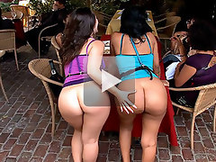 These girls have big beautiful asses with tits to match. For the record Kristina Rose could suck the chrome off a trailer hitch and Lacey is not far behind! Our lucky studs found out and everyone saw!