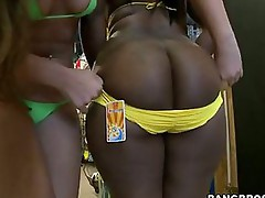 Bubble ass booty pics -  these two fine ass big booty females down with cum