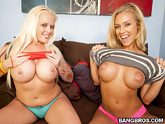 Big Ass Blondes With Blue Get a look-see at Feat. Angel Vain, Nicole Aniston