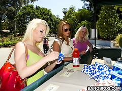 What the fuck is up people? Today we got a sweet Fuck Team Five Update! This video features Mia Lelani, Angel Vain and Britney Amber. These three girls are fucking smoking hot and down for whatever. Whatever could mean finding a guy at the Los Angeles Zoo and fucking and sucking the shit out of him in a employee parking lot. I'm telling you what people...