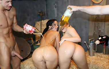 Jayden James and Alexis Texas get 40 oz bounced hardcore